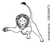 Jumping Lion   Vector...