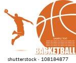 basketball background   vector...   Shutterstock .eps vector #108184877