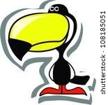 cartoon  toucan | Shutterstock .eps vector #108185051