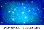 circuit board future scifi... | Shutterstock .eps vector #1081852391