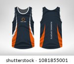 sleeveless sport t shirt design | Shutterstock .eps vector #1081855001