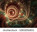 glossy colorful fractal... | Shutterstock . vector #1081856831