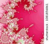 vivid fractal swirly texture ... | Shutterstock . vector #1081856861