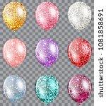set of glitter multicolored... | Shutterstock .eps vector #1081858691
