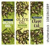 olive oil banner set with... | Shutterstock .eps vector #1081861889