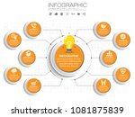 10 options circles presentation ... | Shutterstock .eps vector #1081875839