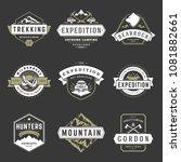 camping logos design templates... | Shutterstock .eps vector #1081882661