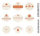 restaurant logos design... | Shutterstock .eps vector #1081884551