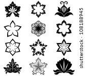 black and white flower design... | Shutterstock .eps vector #108188945