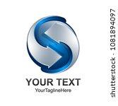 letter s logo design template... | Shutterstock .eps vector #1081894097