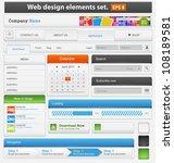 web design elements set. vector ... | Shutterstock .eps vector #108189581