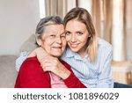 an elderly grandmother with an...   Shutterstock . vector #1081896029