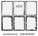 grunge frames.distress frames... | Shutterstock .eps vector #1081898387