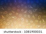 light blue  yellow vector... | Shutterstock .eps vector #1081900031