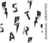 rock star seamless pattern.... | Shutterstock .eps vector #1081907525