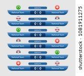 world cup russia 2018. match... | Shutterstock .eps vector #1081911275