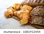 assortment of baked french bread | Shutterstock . vector #1081912454