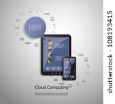 cloud computing concept | Shutterstock .eps vector #108193415