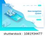 isometric navigation system... | Shutterstock .eps vector #1081934477
