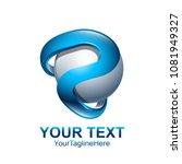 initial letter p logo template... | Shutterstock .eps vector #1081949327