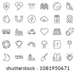thin line icon set   dollar... | Shutterstock .eps vector #1081950671