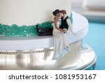 cake topper on wedding cake... | Shutterstock . vector #1081953167