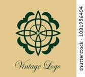 vintage logo template. vector... | Shutterstock .eps vector #1081956404