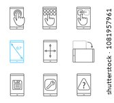 smartphone linear icons set.... | Shutterstock .eps vector #1081957961