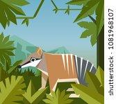 flat geometric jungle...   Shutterstock .eps vector #1081968107