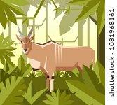 flat geometric jungle...   Shutterstock .eps vector #1081968161