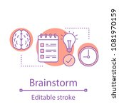 brainstorm concept icon.... | Shutterstock .eps vector #1081970159