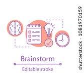 brainstorm concept icon.... | Shutterstock .eps vector #1081970159