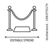 grand opening ribbon linear... | Shutterstock .eps vector #1081970174