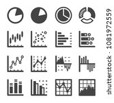 graph and chart icon set | Shutterstock .eps vector #1081972559