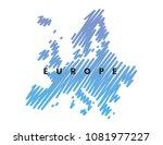 european map stylized sketch....   Shutterstock .eps vector #1081977227