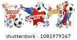 football sign place for text... | Shutterstock .eps vector #1081979267