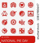 vector national pie day icon set | Shutterstock .eps vector #1081980647