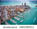 aerial view of miami beach  | Shutterstock . vector #1081989011