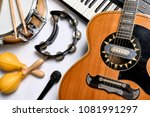 a group of musical instruments...   Shutterstock . vector #1081991297
