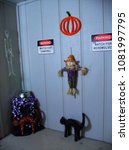 Small photo of Kitschy Outdoor Country Halloween Decor