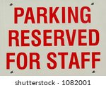 reservation at parking lot | Shutterstock . vector #1082001