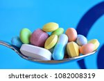tablets and medications   Shutterstock . vector #1082008319