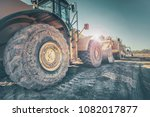 bulldozer on construction site | Shutterstock . vector #1082017877