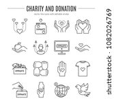 vector charity and donation... | Shutterstock .eps vector #1082026769