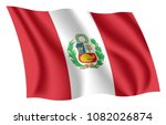 peru flag. isolated national... | Shutterstock .eps vector #1082026874