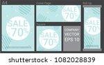 summer sale template banner set ...   Shutterstock .eps vector #1082028839