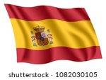 spain flag. isolated national... | Shutterstock .eps vector #1082030105