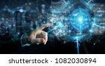 businessman on blurred... | Shutterstock . vector #1082030894