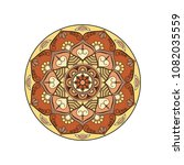 mandala. round ornament floral... | Shutterstock .eps vector #1082035559