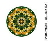 mandala. round ornament floral... | Shutterstock .eps vector #1082035565